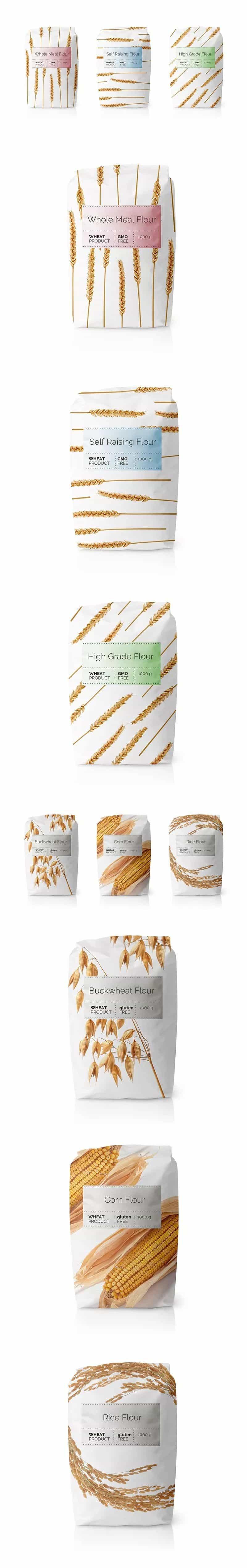 面粉类包装设计分享